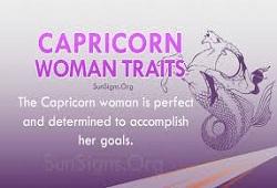 Capricorn Traits Female